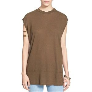 Free People Solid Muscle Tee Fatigue